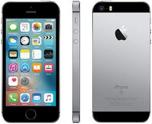 【エントリーで全商品ポイント5倍!】【スーパーSALE期間中】アップルiPhoneSESIMフリー版16GB正規整備済品スペースグレー