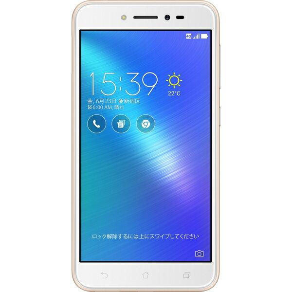 【シルバーランク】ASUS(エイスース) Zenfone Live SIMフリースマートフォン シャンパンゴール...