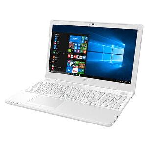 富士通FMVLIFEBOOKA42B2W(FMVA42B2W)Windows10Celeron15.6インチメモリ4GBHDD1TBDVDスーパーマルチドライブテンキーありOffice付きプレミアムホワイト