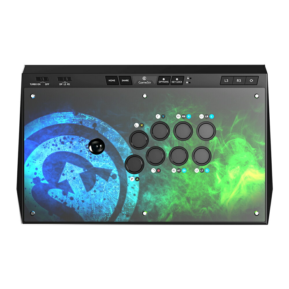 GameSirC2アーケードコントローラーPlaystation4/Switch/XboxOne/PC/Android対応アーケードスティックアケコンc2アーケードファイトスティックジョイスティック