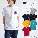8%OFF◆チャンピオン Tシャツ ロゴT CHAMPION Champion ロゴ刺繍 Tシャツ プルオーバー /C3-F362 ロゴT ロゴプリントT-シャツメンズ トップスビックロゴ 半袖 TシャツCrew Neck S/S Big Logo T-Shirt ユニセックス