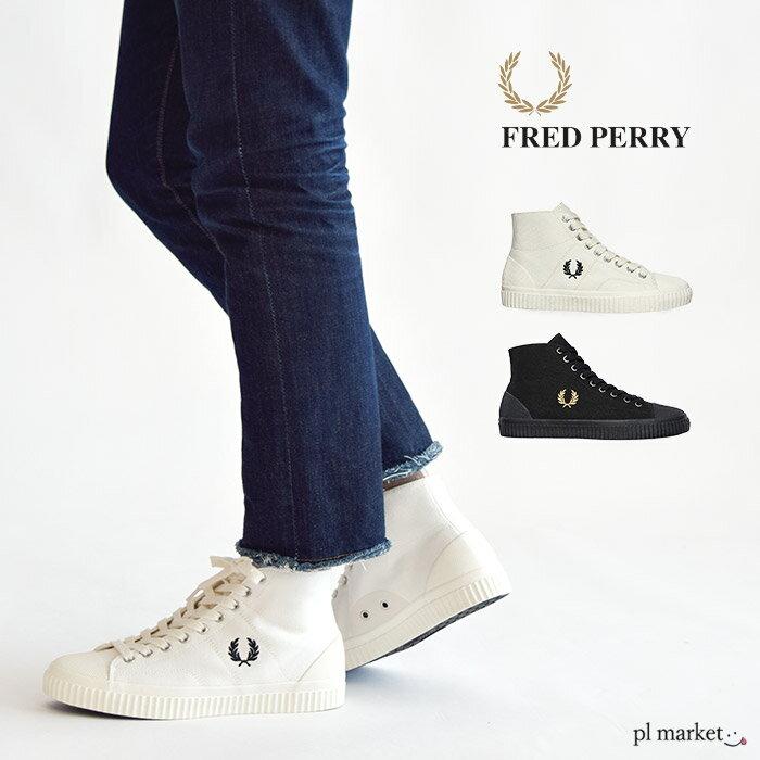 メンズ靴, スニーカー  FRED PERRY HUGHES MID CANVAS B8110