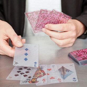 好像從Pixel Cards畫素卡畫素風格撲克牌室內裝飾雜貨禮物禮物對方看得見,不看得見的感到奇怪的設計KIKKERLAND/from U.S.A. kikkarando