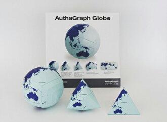 AuthaGraph 全球 authagraph 全球零部件組裝,使世界地球球體的彝族地球地球儀和地球儀的四面體 (authagraph) 三個地球儀裝飾禮品贈品