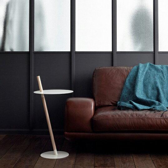 DUENDE/デュエンデ TUBE&ROD ホワイトサイドテーブル軽家具デザイナーズ家具インテリア送料無料リビング 寝室組立式