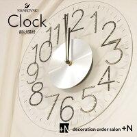 掛け時計オフィスインテリアプレゼントスワロフスキーモノトーン壁掛け時計