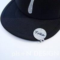 母の日にもおススメ!!キラキラプレゼントにもオススメ!!選べるデザインスワロフスキーゴルフマーカー大きいサイズ帽子につけるタイプ
