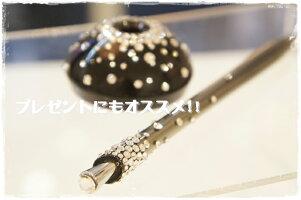 スワロフスキーキラキラオフィス用品プレゼント必需品スタンドボールペン