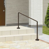 玄関手すり手摺エトランポS1スパンセット笠木目板ベースプレート支柱タイプ