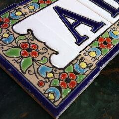 手作りキット感覚のアルファベット タイル表札(門札)サイン スペイン製の表札デザインを戸建て...