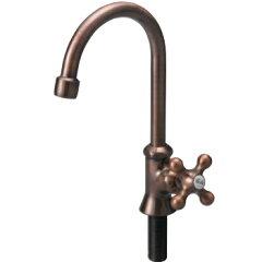蛇口 ブロンズスワンネックB ガーデンの水栓柱(立水栓)向け水栓 立水栓ユニットの外流しと蛇口...