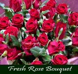 """◆【送料無料】《ガルシアンロゼ》""""極上真紅大輪バラ""""を味わう♪【ローズ・フレッシュブーケ・セレクション】《個人・法人・企業・団体・ビジネス・ショップ・オフィス》フラワーギフト"""