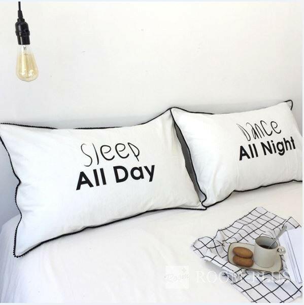 枕カバー 枕ケース 2枚セット ホワイト モノトーン 寝室 ベッド用品 大型ピローケース 新生活 pillow-s0009