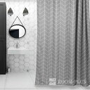 シャワーカーテン バスカーテン 送料無料 バスルーム 間仕切り グレー ユニットバス 防カビ bath-sc0002 新生活