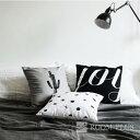 クッションカバー 45cm×45cm モノトーン 全3デザイン 白黒 ...