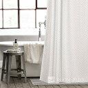 シャワーカーテン バスカーテン モノトーン 白黒 ホワイト ブラック bath-sc0005