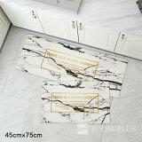 フロアマット玄関マットキッチンエントランスバスマットモノトーン北欧インテリア雑貨Fmat-0015