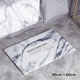 フロアマット玄関マットキッチンエントランスバスマットオシャレピンク大理石柄北欧モダンインテリア雑貨Fmat-0102