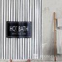 シャワーカーテン バスカーテン モノトーン 2サイズ ストライプ ホワイト ブラック バス用品 防カビ bath-sc0048 新生活