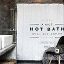 シャワーカーテン バスカーテン 送料無料 モノトーン ホワイト ブラック バス用品 防カビ 2サイズ bath-scy0013 新生活