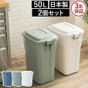 ゴミ箱 トラッシュカン drage 50L 2個セット 日本製 国産 ...