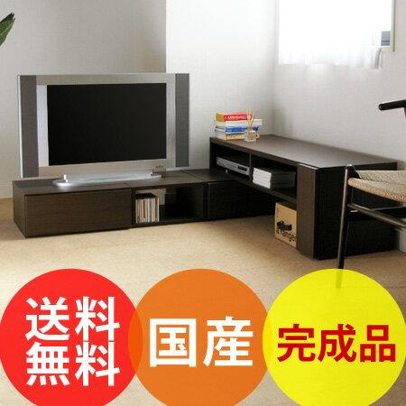 ダブル伸縮TVボード PLACE(完成品/プレイス/伸縮テレビ台 コーナー/テレビボード/TVラック/TV台/テ...