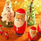 サンタクリョーシカ(クリスマスプレゼント/マトリョーシカ/サンタクロース人形)【smtb-k】【ky】【円高還元YDKG-k】【ky】