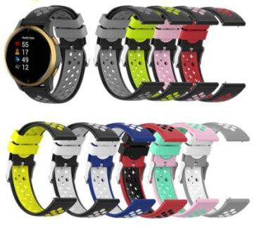 【送料無料】GARMIN Galaxy Watch HUAWEI WATCH 22mm 交換ベルト ガーミン ギャラクシーウォッチ ファーウェイウォッチ 2色2 ランニング ジョギング シリコン 交換バンド スマートウォッチ かわいい かっこいい 耐水 誕生日 記念日 select ギフト プレゼント