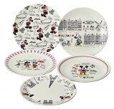 【送料無料】ミッキー& フレンズ ケーキ皿5枚セット 12.5cm ディズニー 中皿 51910 maebata Disney 皿 さら サラ プレゼント