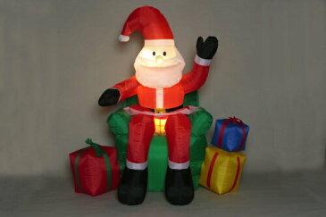 【送料無料】エアーディスプレイ チェアーサンタ WG-5506 友愛玩具 〔クリスマスイルミネーション〕