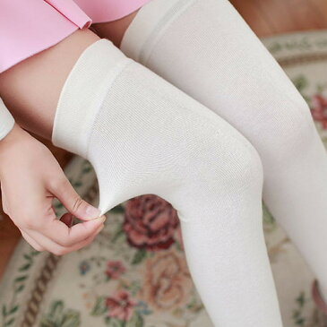 靴下 ソックス ニーハイソックス オーバーニーソックス サイハイソックス 黒 白 ネイビー ブラウン カーキ ダークグレー ライトグレー ワインレッド