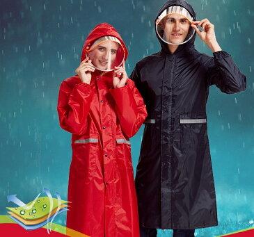 レインコート レインウェア カッパ 雨合羽 レイングッズ 雨具 レディース メンズ 男女兼用 防水 ロング丈 サンバイザー付き フード付き パーカー 無地 梅雨 通勤 通学 袖有りシンプル 無地 カジュアル