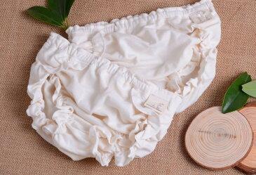 ベビー パンツ 下着 肌着 ショーツ フリル コットン 女の子 男の子 キッズ 子供 ブリーフ 赤ちゃん 赤ん坊 幼児 ホワイト 通気性 シンプル 無地
