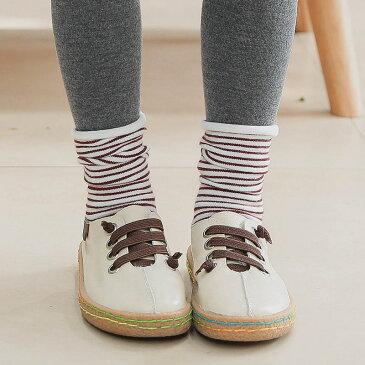 靴下 ソックス キッズ 子供靴下 キッズソックス ボーダー クルーソックス 小物 バイカラー 配色 細ボーダー