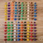 送料無料7個セット 7種類 20色 多面 サイコロ ダイス 四角 ダイヤ型 五角形 三角 二十面体 面白い カラー豊富 数字 おもちゃ すごろく パーティー イベント