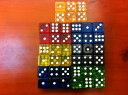 送料無料サイコロ ダイス さいころ 6面 ドットダイス クリア 半透明 16mm 16ミリ 立方体 四角形 真四角 ボードゲーム テーブルボードゲーム 双六 おもちゃ イベント パーティー ゲーム