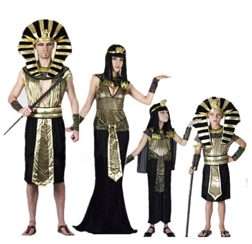 クレオパトラ ファラオ ツタンカーメン 古代エジプト王族風 コスチューム衣装 コスプレ ハロウィン 仮装 変装 なりきり おもしろ 家族 ファミリー 親子 大人用 子供用 クリスマス パーティ イベント 余興 学園祭 男の子 女の子