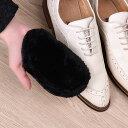 靴磨きクロス 靴磨きグローブ ム...
