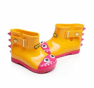 長靴 ベビー キッズ 男の子 女の子 レインブーツ 恐竜 怪獣 バイカラー 配色 ラメ ロゴ レインシューズ かわいい