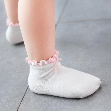 靴下 ソックス 滑り止め付き バイカラー ベビー キッズ ベビー用品 赤ちゃん用品 子供靴下 ベビーソックス キッズソックス 小物 リボン付き フリル