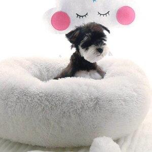 送料無料ペットベッド ドーナツ型 ラウンドベッド フェイクファー カドラー ペット用 犬用 猫用 冬 XS S 寝床 寝具 クッション ソファー ふかふか ふわふわ あったかい 防寒 暖かい 無地 シンプル 厚め 小型犬 いぬ イヌ ねこ ネコ ペット用