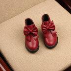 ショートブーツ ブーツ リボン付き かわいい 女の子 女子 キッズ 靴 くつ くるぶし丈 ピンク レッド ワイン ブラック