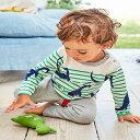 送料無料Tシャツ ロングTシャツ 子供用 キッズ 男の子 女の子 長袖 ラウンドネック 丸首 ボーダー 恐竜 プリント カジュアル かっこいい かわいい