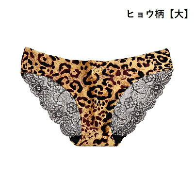 【Plus Nao】バックレースショーツ ヒョウ柄