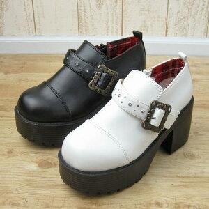 レディースファッション 靴 ブーツ ショート その他 厚底足元のボリュームが可愛い♪厚底ベルト...