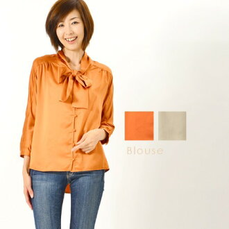 Bothaibraus / tops / thick material Ribbon blouse! ◎ order today will ship 2/23