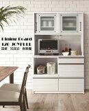 【送料無料】【設置無料】【食器棚】日本製国産大川家具ホワイト高級食器棚完成品オープンキッチンボードキッチンオープン食器棚120JOYFULLホワイト