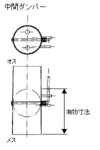 黒耐熱 スチール製 ダンパー 直径150mm No.X0087 煙突 部材 ホンマ製作所 T野D