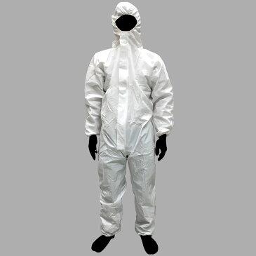 【在庫限り】 防水 着たろう フード付 つなぎ 作業着 WP849 不織布 Lサイズ 三カ D Z