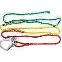 玉掛 3色 介錯ロープ 12mmx5m 専用フック+ロープセット 赤 黄 緑 片大型フック付 三つ打ち繊維ロープ コTD